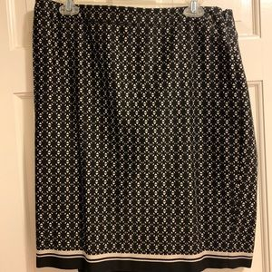 The Limited black and cream skirt